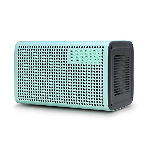 ZTKBG Draadloze luidspreker, beste bluetooth-luidspreker, 2019, wifi, smart speaker, bluetooth-ondersteuning met wekker & oplader, groen