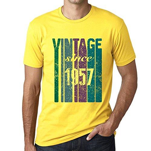 One in the City 1957 Cumpleaños de 64 años, Vintage Since 1957 Cumpleaños de 64 años Hombre Camiseta Amarillo Regalo De Cumpleaños 00517