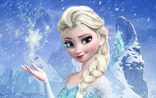 CHANGJIU- Rompecabezas De 1000 Piezas para Adultos Niño- Póster De La Princesa Elsa De La Película Frozen -Juego Familiar, Formación De Equipos,Regalos para Amantes O Amigos 75×50Cm
