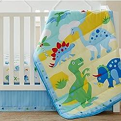3. Wildkin Olive Kids Dinosaur Land 3 Piece Crib Bedding Set