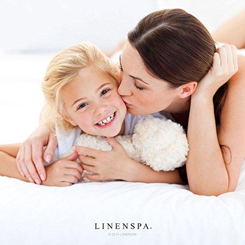 LINENSPA Premium Smooth Fabric Mattress Protector-100% Waterproof-Hypoallergenic-Vinyl Free Protector, King, White