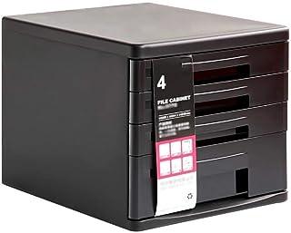 KANJJ-YU Tiroir trieuses, bureau de bureau Tiroir Armoire de table 4 couches de données supports à journaux Fournitures de...