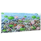 Jeanoko Fondo de acuario peces fondos de papel pintado 122 x 50 cm/48 x 19.7 pulgadas PVC calcomanías para la vida acuática para peceras paisajismo