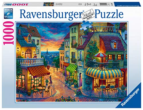 Ravensburger- An Evening in Paris Puzzle 1000 Piezas Fantasy, Color nulo, 27' x 20' (15265)