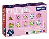 Smowo Caballos y unicornios para regar y pintar uno mismo – Juego de manualidades para niñas para moldear yeso con 10 figuras para niños