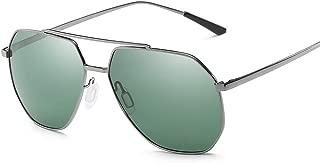 SGJFZD Outdoor Seaside Sunproof UV400 Polarized Sunglasses Ladies' Polarized Sunglasses Vintage Retro Sporting Large Frame Elegant Sunglasses Trendy Fishing (Color : Gray)