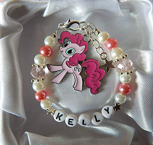 My Little Pony Bracelet Personalised Gift Boxed Pinkiepie Fluttershy