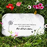 PetAngell Pet Memorial Stones, Loss of Dog Memorial Suited to Cats and All Animals - Pet Grave Markers for The Garden or Home, 12 x 7.25 x 0.5 inches: Waterproof Resin