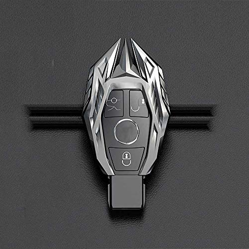NIUASH Cubierta de la Caja de la Llave del Coche, para Mercedes Benz W203 W210 W211 W124 W202 W204 W212 W176 AMG