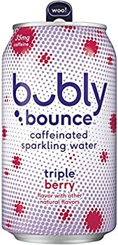 18-Count Bubly Bounce Caffeinated Sparkling Water 12oz Cans Pack