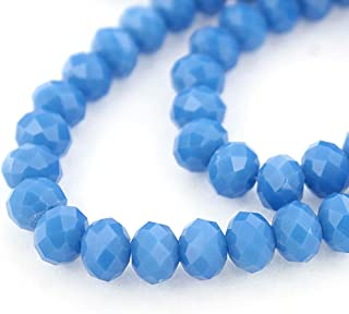 25  50 100 mini beads 3x2 mm 25  50  100 tiny jade blueish green beads faceted glass GREEN BLEUTE opaque abacus faceted glass