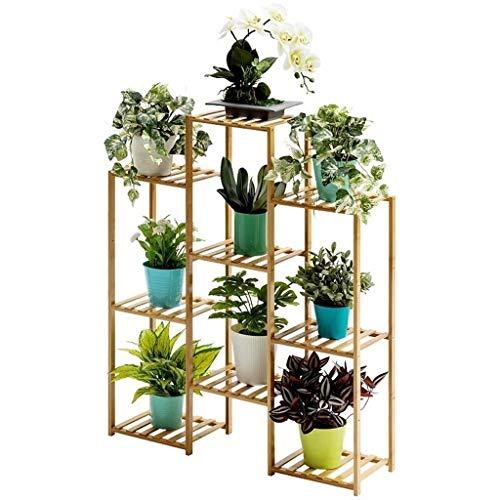 & bloempot van hout, meerlagige houder, opbergplank, bloempotten, bamboe, bloempotten. 83cm*25cm*100cm