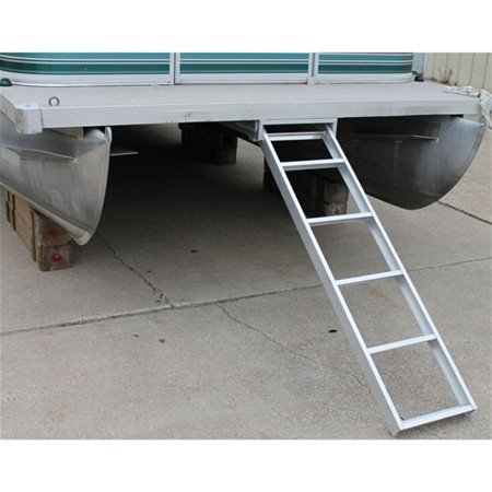 RecPro Marine Pontoon Boat 5 Step Extra Long Under Deck Mount SELF Storing Ladder AL-UDL5