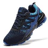 Ahico Zapatillas de Deporte para Correr Hombres Tenis Zapatos Ligero Moda Caminar Transpirable Entrenamiento Deportivo para Hombres