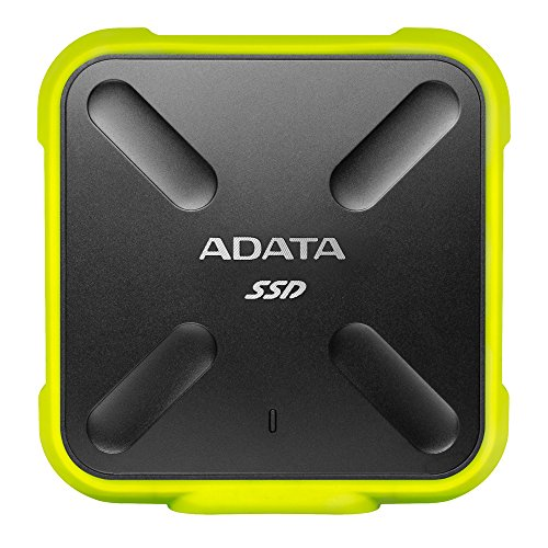 ADATA ASD700-256GU3-CYL- Disco duro externo SSD NAND 3D de 256GB (duradero, resistente al polvo, al agua y a impactos IP68, 440 MB/s de lectura y escritura) color amarillo