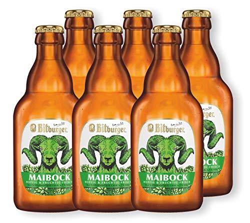6 Flaschen Bitburger Maibock 0,33l - Bockbier inc. MEHRWEG Pfand
