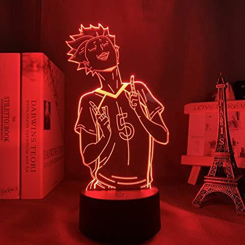 3d Lampe Anime Haikyuu Tendou Satori Nachtlicht Geburtstagsgeschenk Manga Gadget Tendou Lampe Haikyu,für Kinder Kind Schlafzimmer Dekor