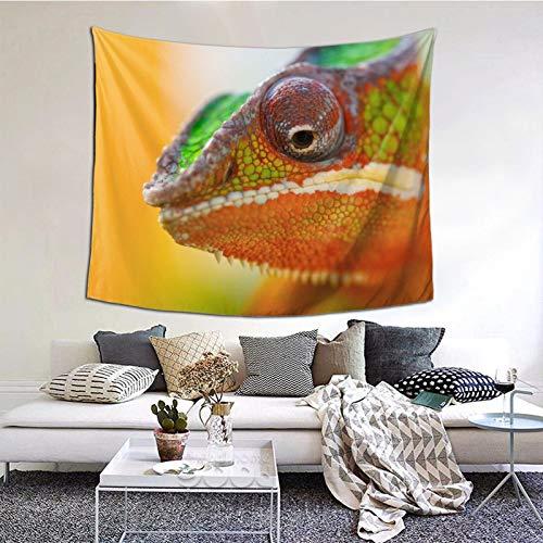 Perfect household goods Tapiz para colgar en la pared, diseño de camaleón Cvetnoy Zhivotnoe, estilo vintage, tapiz de microfibra de melocotón, decoración del hogar, 152 x 132 cm