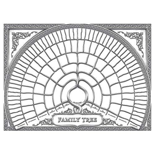 CLFYOU Stammbaum Diagramm Genealogie-Baum Malerei Wandstammbaum DIY Generationen