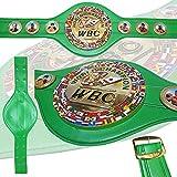 HK WBC World Boxing Champion Cinturón de boxeo para adultos tamaño réplica de cuero WBO, IBF, WBA, IBO cinturones de boxeo