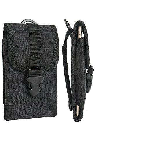 K-S-Trade Holster Schutzhülle Kompatibel Mit BlackBerry KEY2 (Dual-SIM) Gürteltasche Handyhülle Schutz Hülle Gürtel Tasche Handy Tasche Outdoor Seitentasche Schwarz 1x + Kopfhörer