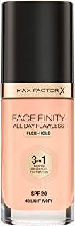 Max Factor Facefinity All Day Flawless, Liquid Foundation, 3in1, 040 Light Ivory, 30 ml
