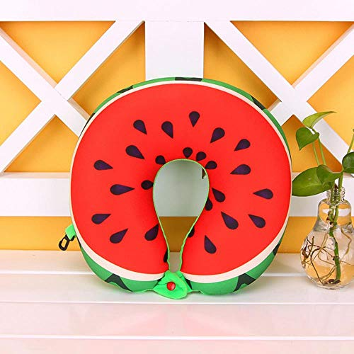 ZWQ Pillow Car Plüschkissen Toy Nap Fruit Soft Comfortable Neck Pillowb, Wassermelone