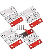 Jiayi magnesy na drzwi szafy, 4 sztuki, samoprzylepne magnesy na drzwi, do mebli, mocne szuflady, zapięcie magnetyczne, szafka, magnes, do zamykania drzwi, mebli, magnesy do szuflad