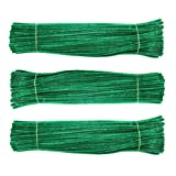 Chenille Stem 300 PCS Dark Green Pipe Cleaners 6MM x 12 INCH Twistable Stems Children's Bendable Sculpting...
