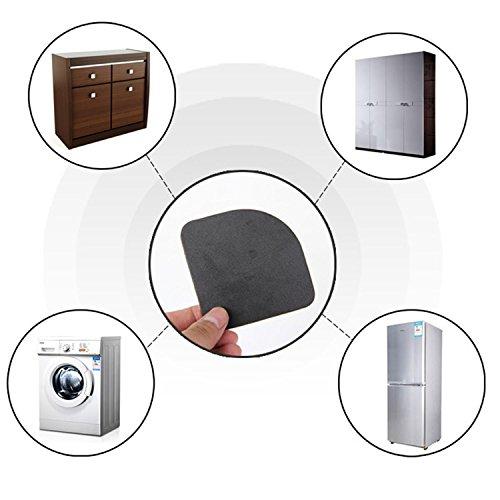 8PCS Washing Machine Refrigerator Fridge Anti-vibration Feet Pad Anti-shock Non-slip Mat