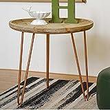 LSX Nachttisch Kleiner Couchtisch-Wohnzimmer-modernes minimalistisches kreatives Tablett-rundes Tisch-rundes hölzernes Sofa-Beistelltisch-Ecktisch-Computer-Schreibtisch-Bett-Kopftische tun...
