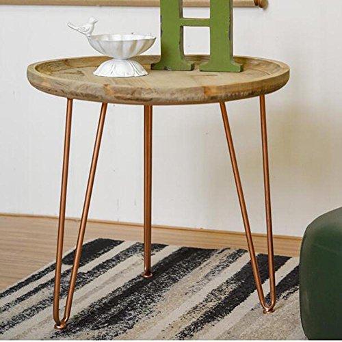 LSX Nachttisch Kleiner Couchtisch-Wohnzimmer-modernes minimalistisches kreatives Tablett-rundes Tisch-rundes hölzernes Sofa-Beistelltisch-Ecktisch-Computer-Schreibtisch-Bett-Kopftische tun die alte op