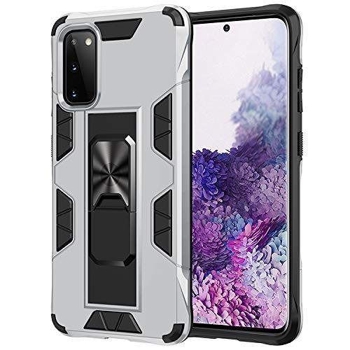 AFARER for A71 5G case, Military Grade 12ft Drop Tested Magnetic Protective Case,Impact Resistant Military Armor Dual Layer Cover with Kickstand Compatible with Samsung Galaxy A71 5G 6.7' Silver