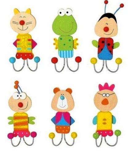 Inware Ganchos de ropa para unisex-adulto Conjunto de 6 Multicolor