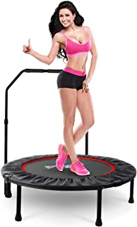 """LBLA 38"""" Mini Trampoline, Max. Load 300lbs Indoor Exercise Trampoline Workout, Foldable Rebounder Trampoline for Kids Adults"""