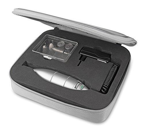 Medisana Medistyle L Hand- und Fußpflegegerät mit Lichtfunktion Ansatzteile 8513010, silber