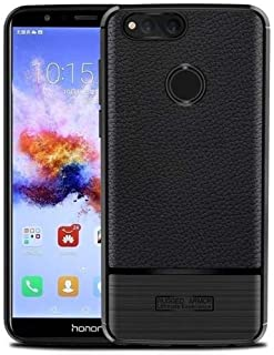 Huawei Honor 7x Leather Skin Pro TPU Case Cover - Black.