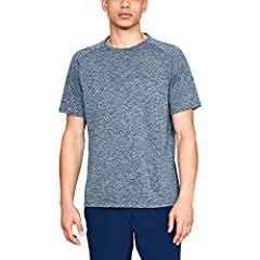 UA Tech fabric is quick-drying, ultra-soft & has a more natural feel Material wicks sweat & dries really fast Anti-odor technology prevents the growth of odor-causing microbes New, streamlined fit & shaped hem