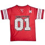 NCAA Nebraska Cornhuskers Toddler Football Tee, 3 Toddler, Red