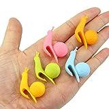 BeatlGem 10pcs carino forma di lumaca in silicone titolare di bustina di tè tazza tazza di caramelle colori regalo set
