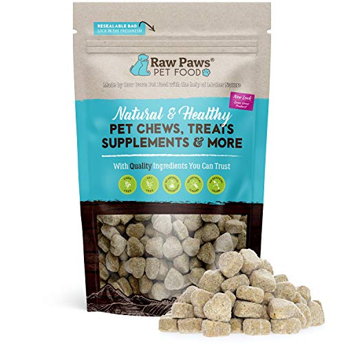 Raw Paws Natural Dog Probiotic Supplement with Prebiotics, 10-oz/100-ct - USA Made Daily Probiotic for Dogs Soft Chew - Treat Diarrhea in Dogs, Yeast, Dog Breath & Gas with Our Canine Probiotic Chews