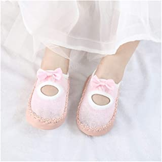 LiuQ, LiuQ Bebé Calcetines del bebé con Suelas de Goma for bebé calcetín recién Nacido del Resorte del otoño niños de Suelo Calcetines Calzado Anti Slip Suavemente único calcetín
