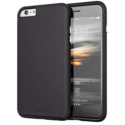 Crave iPhone 6S Plus Case, Dual Guard Protection Series Case for iPhone 6 6s Plus (5.5 Inch) - Black