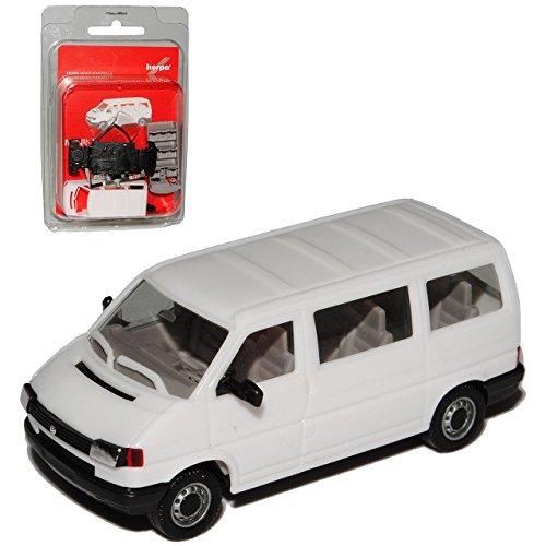 Herpa Volkwagen T4 Transporter Personen Weiss 1990-2003 Bausatz Kit H0 1/87 Modell Auto mit individiuellem Wunschkennzeichen