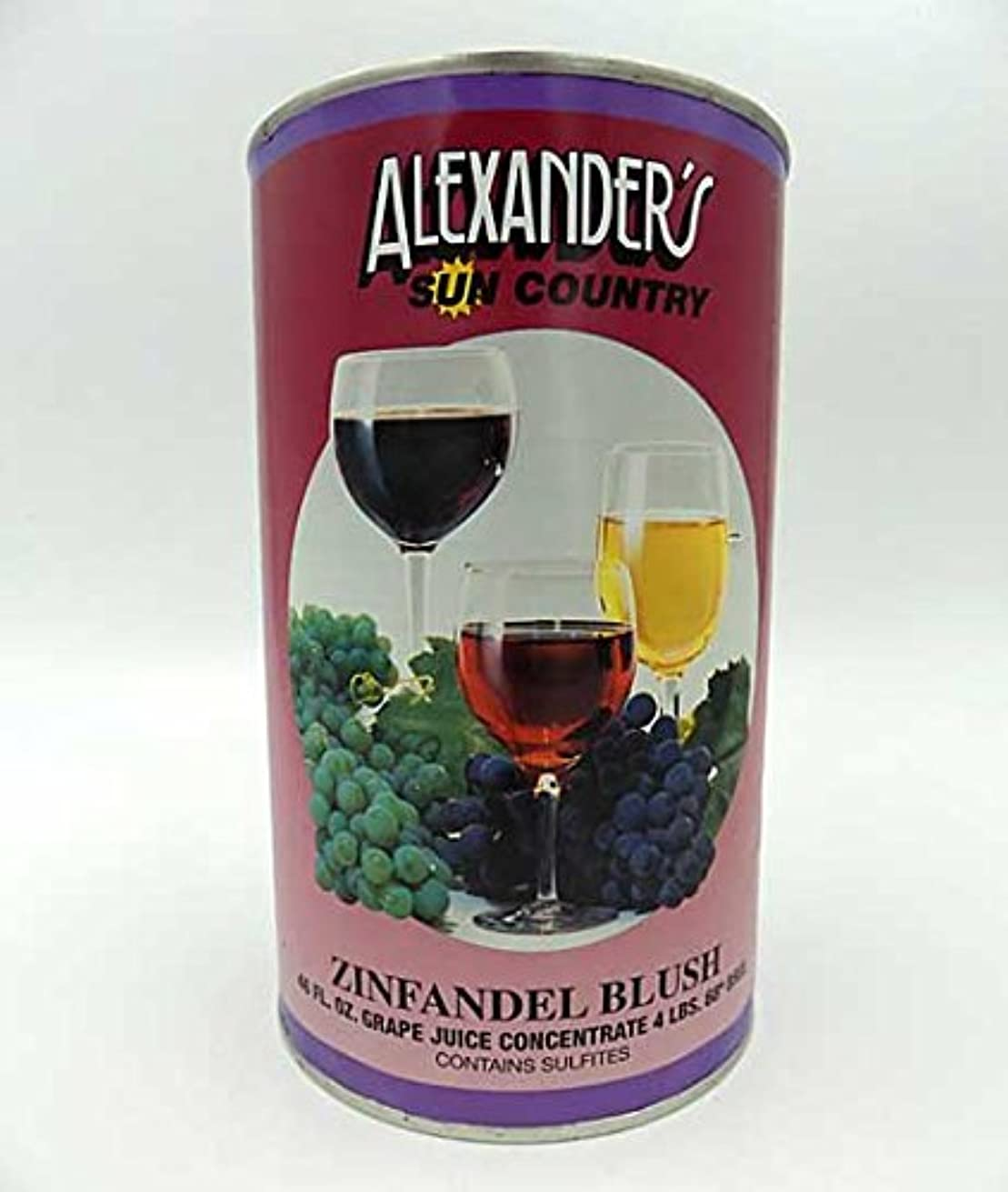 Alexanders Sun Country Wine Grape Concentrate- Zinfandel Blush 46 oz can