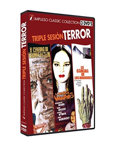 TRIPLE SESION TERROR El Cerebro de Frankenstein + La Marca del Vampiro...