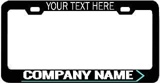 General Tag Black Engraved Option Custom Shiny License Plate Frame Front Rear,