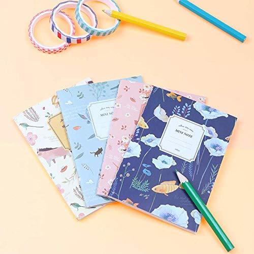 4 stks/set schattige Kawaii Cartoon dier notitieboekje mooie bloem Kladblok voor kinderen Student Gift Koreaanse briefpapier