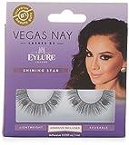 Eylure Vegas Nay Shining Star Fake Eyelashes, Adhesive Included, Reusable, 1 Pair