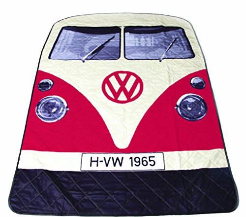 Volkswagen T1 Bus Picknickdecke in rot